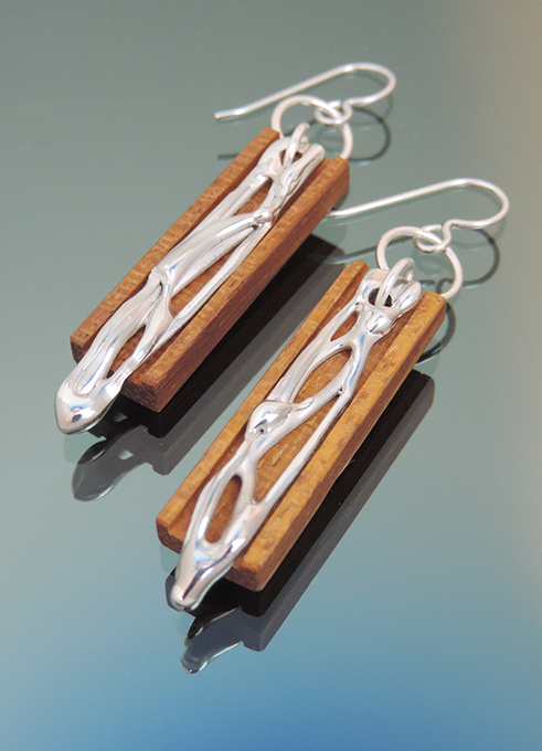 Orange Tree Tatajuba Wood & Sterling Silver Earrings