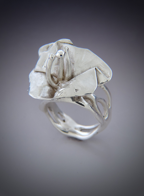 Wildflower Sterling Silver Cocktail Ring. Size 7.5